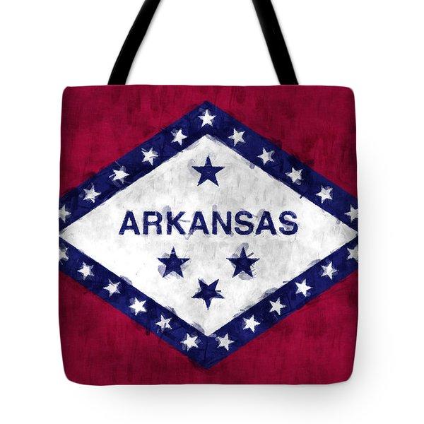 Arkansas Flag Tote Bag by World Art Prints And Designs
