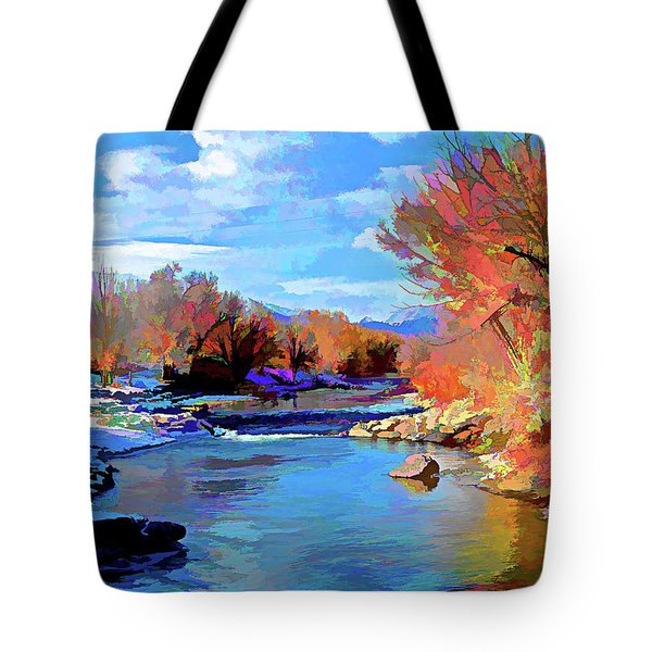 Arkansas River In Salida Co Tote Bag by Charles Muhle