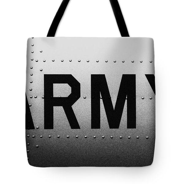 Army Strong Tote Bag by Benjamin Yeager