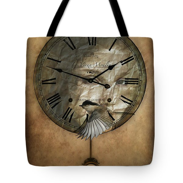 Around The Clock-time Is Flying Tote Bag by Barbara Orenya