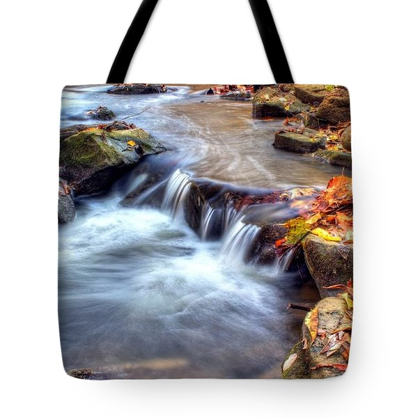 Art for Crohn's HDR Fall Creek Tote Bag by Tim Buisman