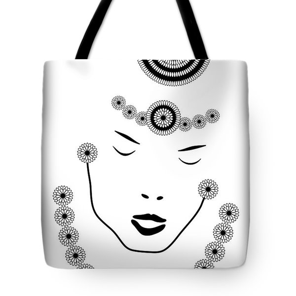Art Nouveau Portrait Tote Bag by Frank Tschakert
