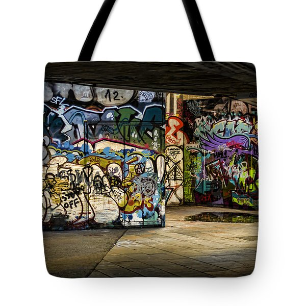 Art Of The Underground Tote Bag by Heather Applegate