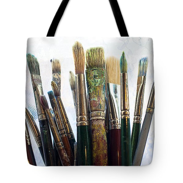 Artist Paintbrushes Tote Bag by Garry Gay
