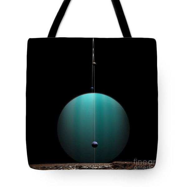 Artists Depiction Of A Ringed Gas Giant Tote Bag by Marc Ward
