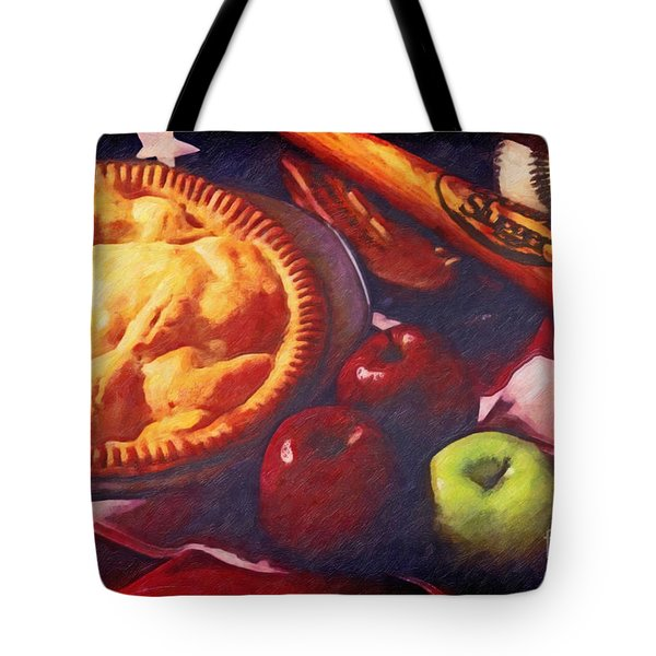 As American as Baseball and Apple Pie Tote Bag by Lianne Schneider