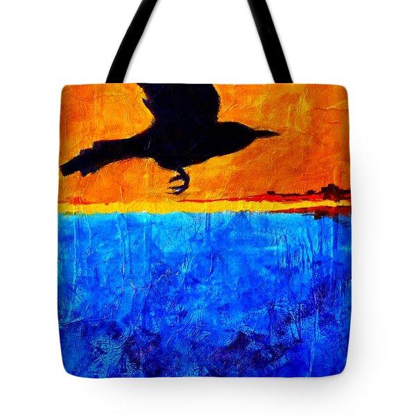 As The Crow Flies Tote Bag by Nancy Merkle