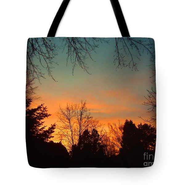 As The Sun Goes Down Tote Bag by Ann Johndro-Collins