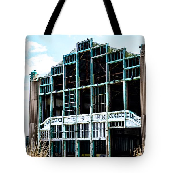 Asbury Park Casino - My City in Ruins Tote Bag by Bill Cannon