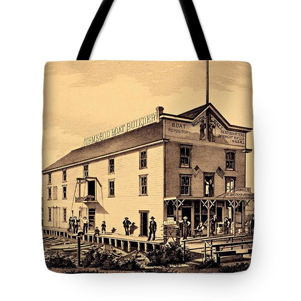Asbury Park New Jersey Ormerod Boat Builder Tote Bag by Movie Poster Prints