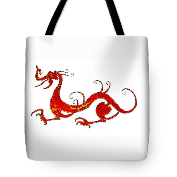 Asian Dragon Tote Bag by Michael Vigliotti