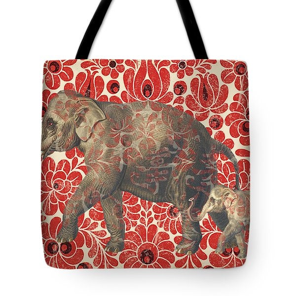 Asian Elephant-jp2185 Tote Bag by Jean Plout