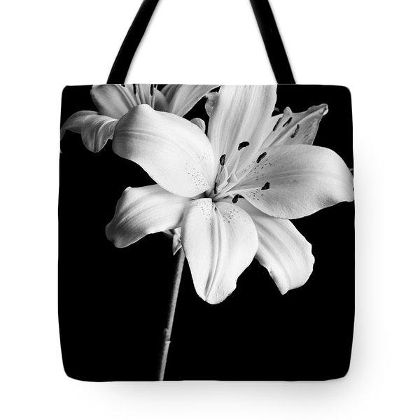 Asian Lilies 2 Tote Bag by Sebastian Musial