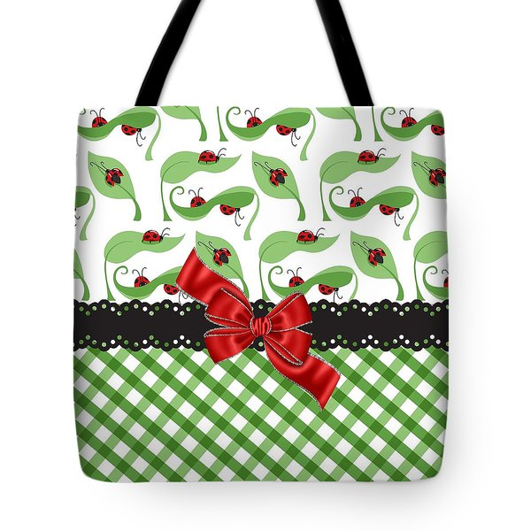 Asiatic Ladybugs  Tote Bag by Debra  Miller