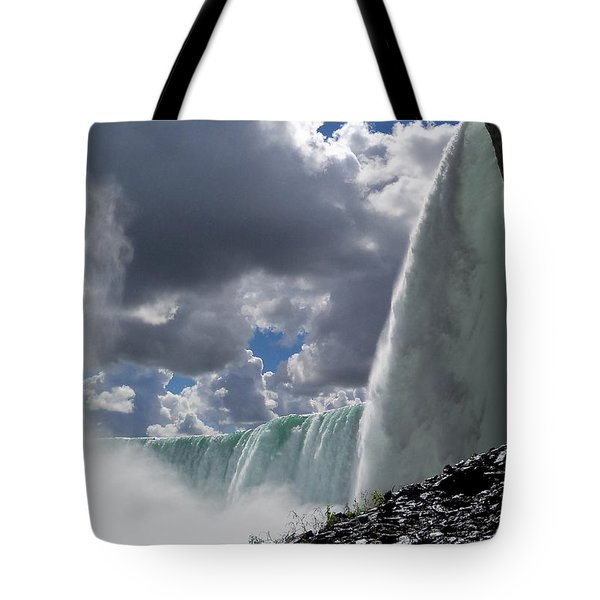 Aside Horseshoe Falls Tote Bag by Katie Beougher