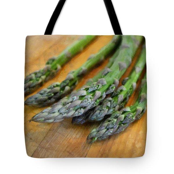 Asparagus Tote Bag by Michelle Calkins