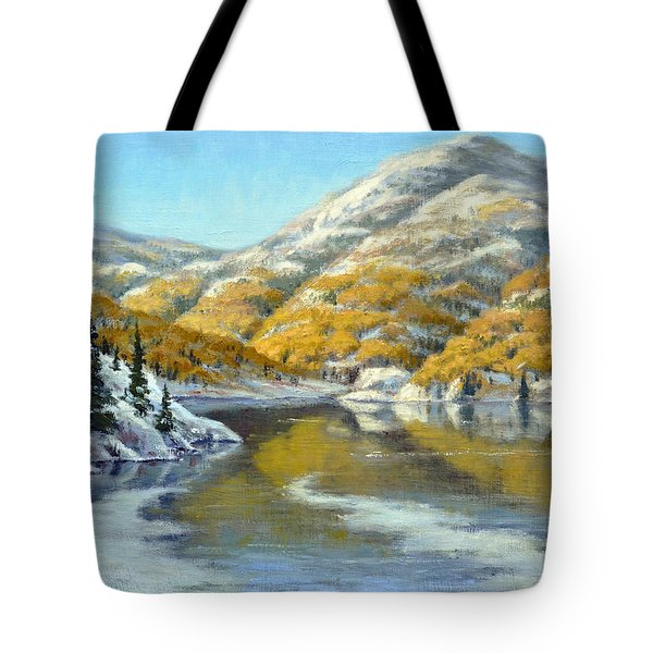 Aspens First Snow Tote Bag by Rick Hansen