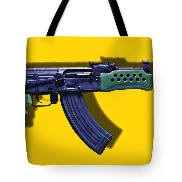 Assault Rifle Pop Art - 20130120 - v2 Tote Bag by Wingsdomain Art and Photography