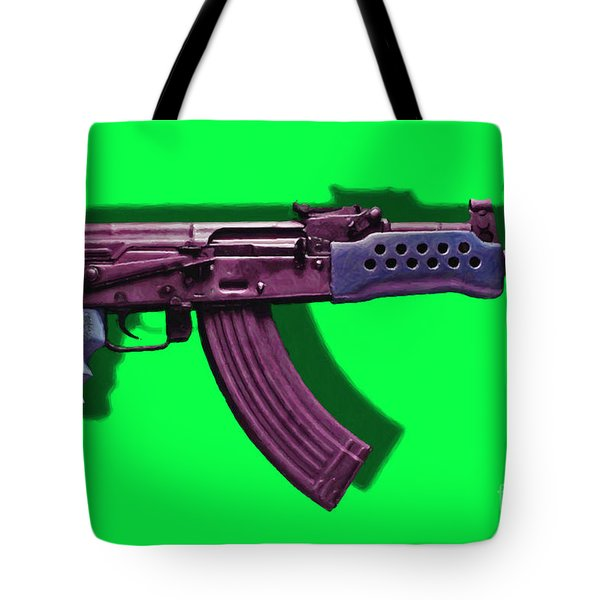 Assault Rifle Pop Art - 20130120 - v3 Tote Bag by Wingsdomain Art and Photography