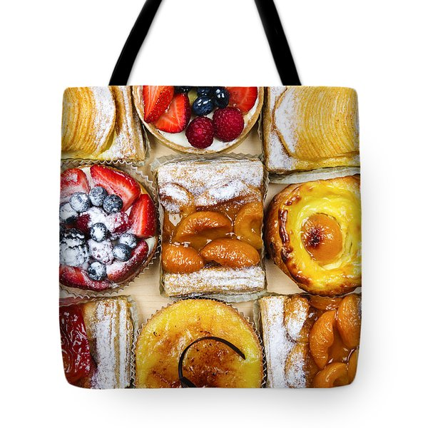 Assorted tarts and pastries Tote Bag by Elena Elisseeva