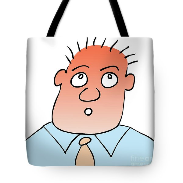 Astonished - Puzzled Expression Tote Bag by Michal Boubin