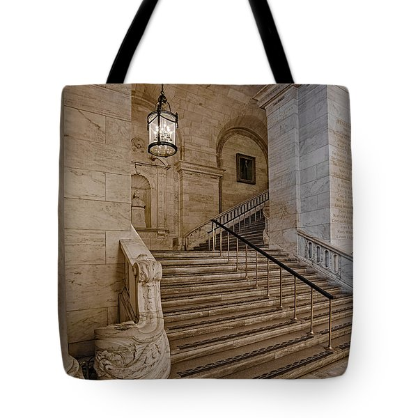 Astor Hall NYPL Tote Bag by Susan Candelario