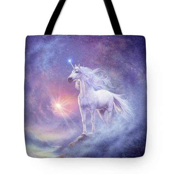 Astral Unicorn Tote Bag by Steve Read