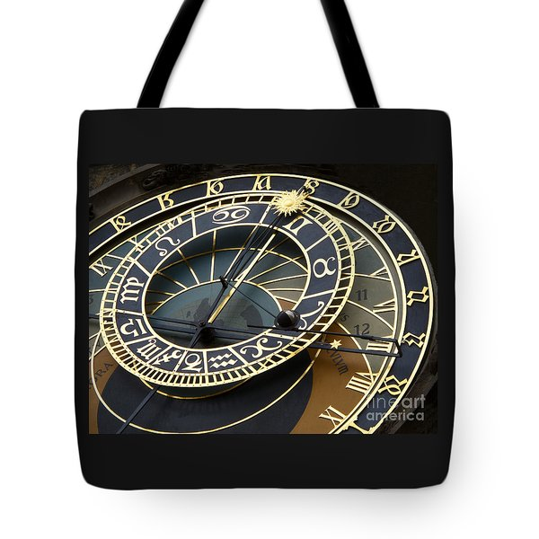 Astronomical Clock Tote Bag by Ann Horn