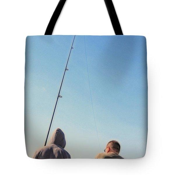 At Fishing Tote Bag by Karol Livote