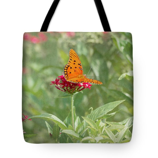 At Rest - Gulf Fritillary Butterfly Tote Bag by Kim Hojnacki