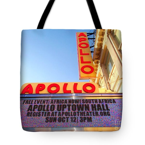 At The Apollo Tote Bag by Ed Weidman