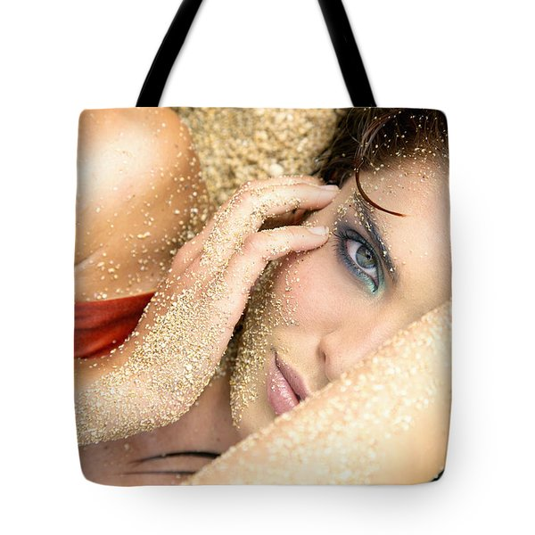 At The Beach Tote Bag by Kicka Witte