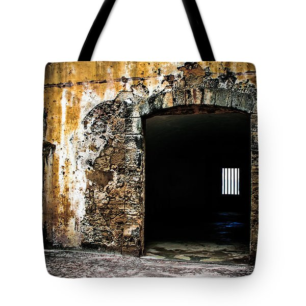 At The Old Fort Tote Bag by Perry Webster
