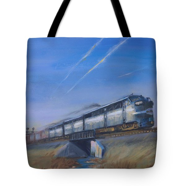 At Track Speed Tote Bag by Christopher Jenkins