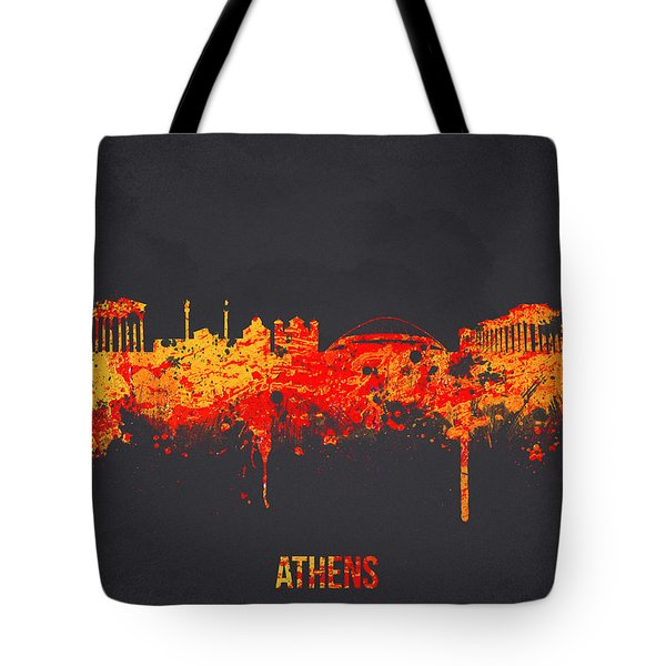 Athens Greece Tote Bag by Aged Pixel