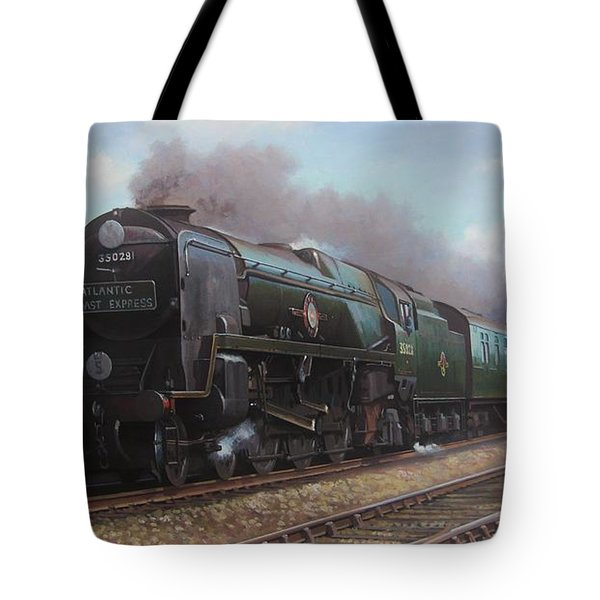 Atlantic Coast Express Tote Bag by Mike  Jeffries
