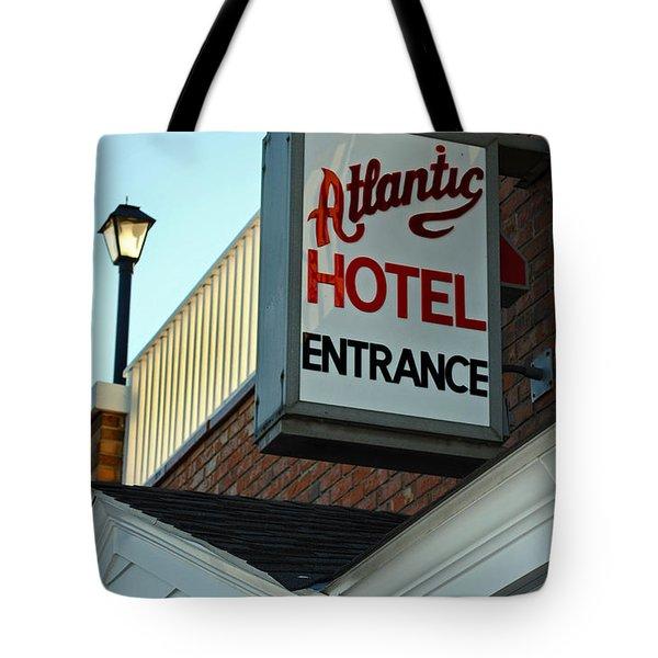 ATLANTIC HOTEL Tote Bag by Skip Willits