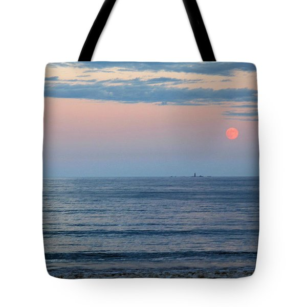 Atlantic Moon Rise Tote Bag by Barbara McDevitt