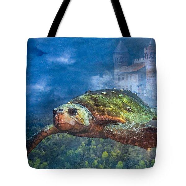 Atlantis Tote Bag by Debra and Dave Vanderlaan