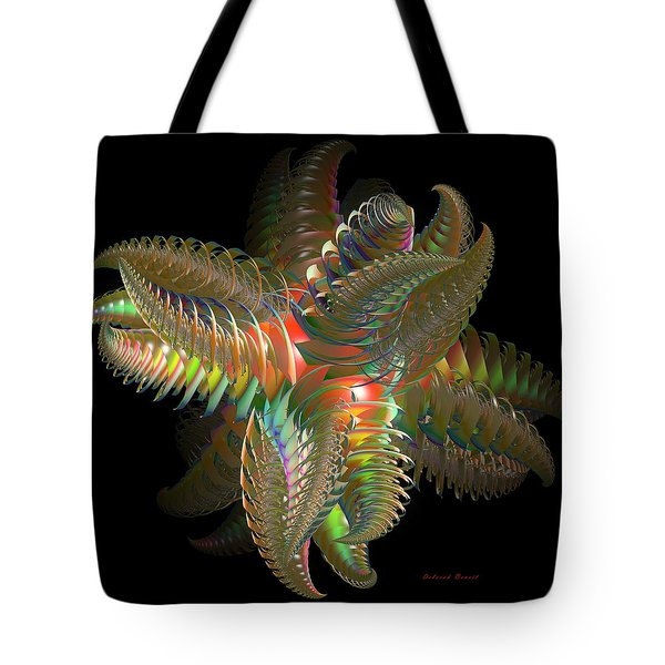 Atom Of Color Tote Bag by Deborah Benoit