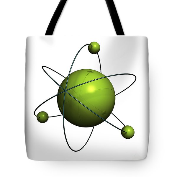 Atom structure Tote Bag by Johan Swanepoel