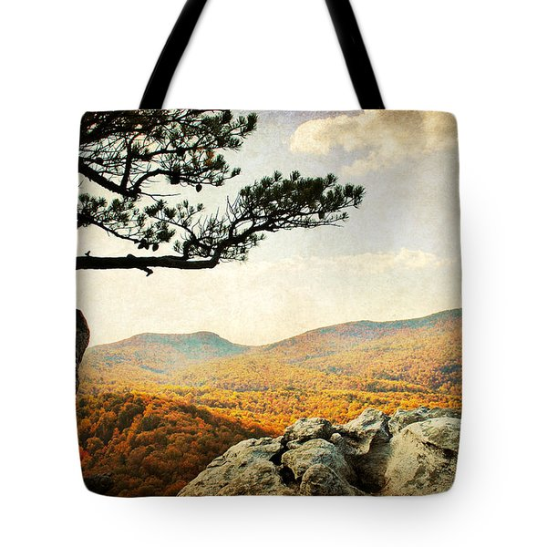 Atop The Rock Tote Bag by Kelly Nowak