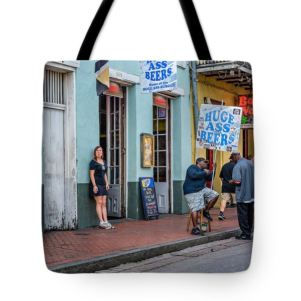 Attitude And Huge Ass Beers Tote Bag by Steve Harrington