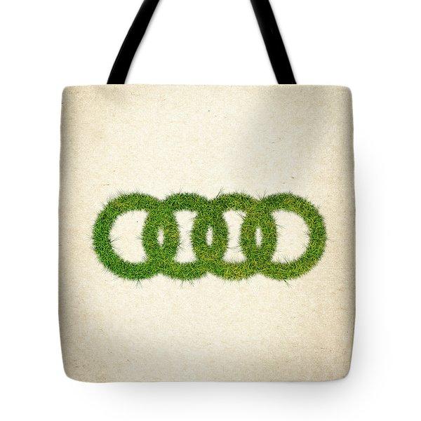 Audi Grass Logo Tote Bag by Aged Pixel