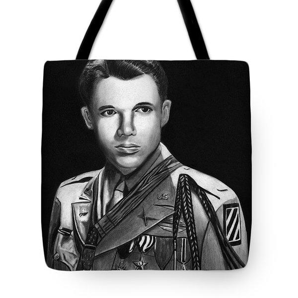 Audie Murphy Tote Bag by Peter Piatt