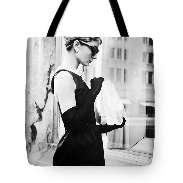 Audrey At Tiffanys Tote Bag by Georgia Fowler
