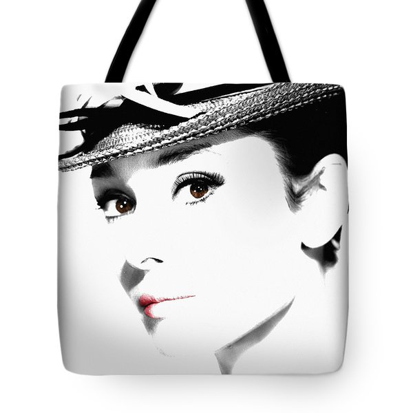 Audrey Hepburn 2 Tote Bag by Andrew Fare