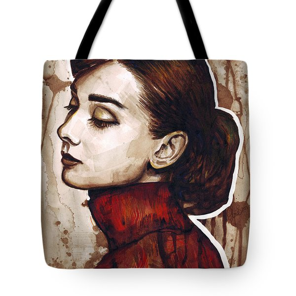 Audrey Hepburn Tote Bag by Olga Shvartsur