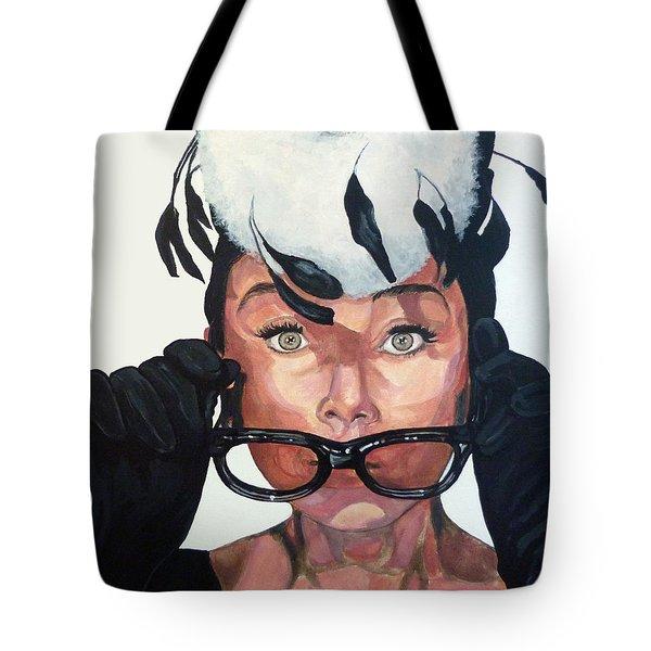 Audrey Hepburn Tote Bag by Tom Roderick