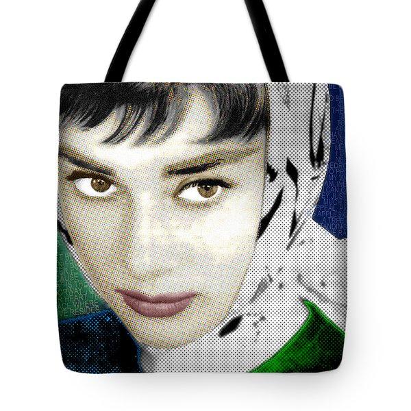 Audrey Hepburn Tote Bag by Tony Rubino